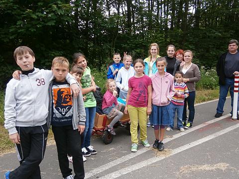 Auf dem Spielplatz in Marienheide-Scharde