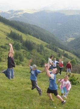 Bergwanderung in den Karpaten