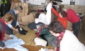 Hilfsgüterannahme und -verarbeitung