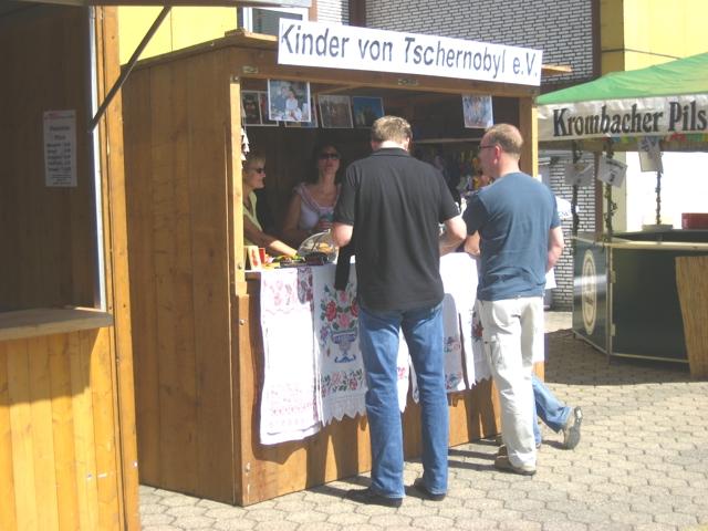 Info- und Verkaufsstand Stadtfest Kierspe 2008
