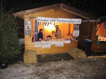 Unser Informationsstand am Weihnachtsmarkt 2010 in Gummersbach