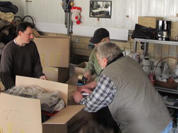 Verpackung von Hilfsgütern