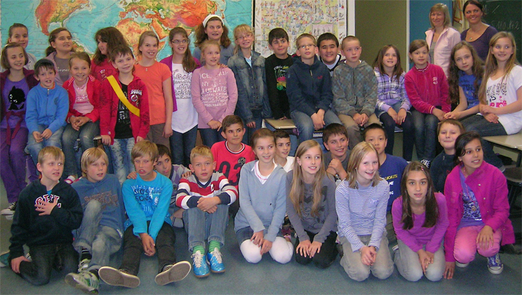deutsche und ukrainische Schüler