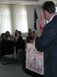 Kiersper Bürgermeister empfängt Kinder von Tschernobyl
