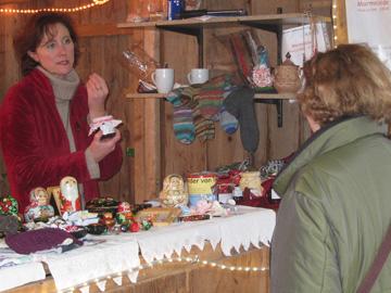 Weihnachtsmarkt in Kierspe 2011 Marmeladenverkauf