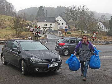 Hilfsgüteranlieferung in unserm Lager Vorth 2 in Kierspe