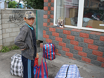 Hilfstransport nach Bila Zerkwa