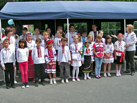 ukrainische Kinder im autofreien Volmetal 2012