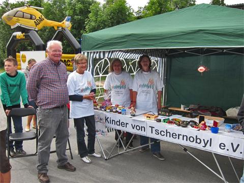 Informationsstand Kinder von Tschernobyl Kierspe 2012