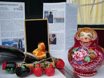 Angebot am Infostand Kinder von Tschernobyl Kierspe