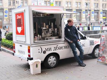 Kleinunternehmer in Kiew
