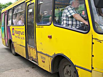 alternde aktive Busse in Kiew