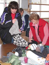 Hilfsgüterannahme Kinder von Tschernobyl