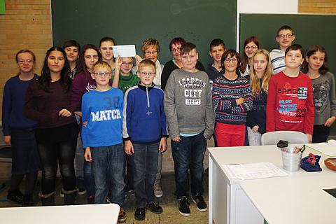Kinder von Tschernobyl Klasse 7.4 der Gesamtschule Kierspe spendet