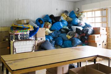 Kinder von Tschernobyl Hilfstransporte Hilfsgüterannahme