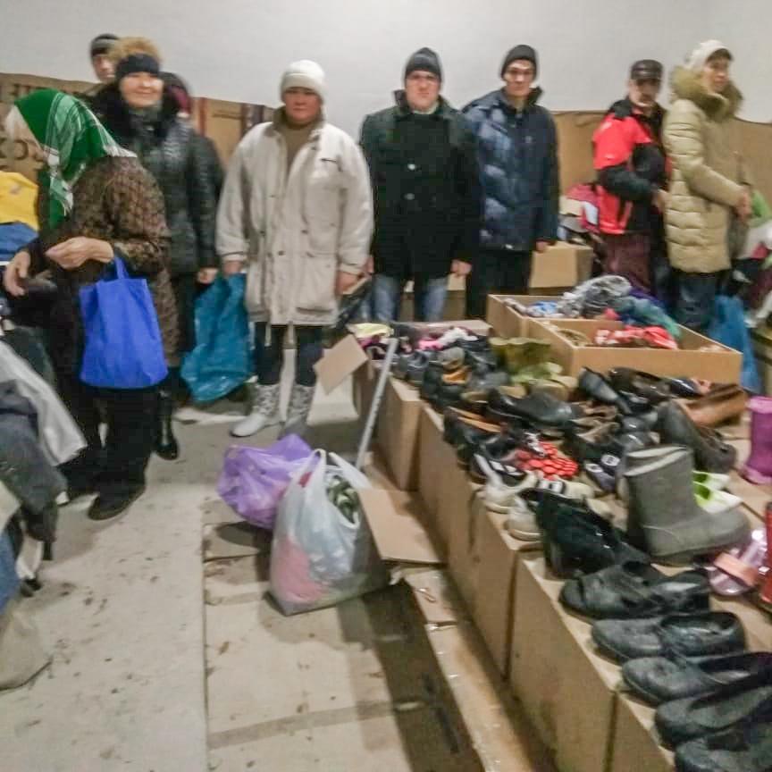 Kinder von Tschernobyl e.V. Hilfstransport Wyschgorod Verteilung