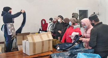 Kinder von Tschernobyl e.V. Hilfsgüter Verteilung Bila Zerkwa