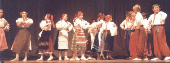 Erste Tanzgruppe aus Kiew in Kierspe 1992