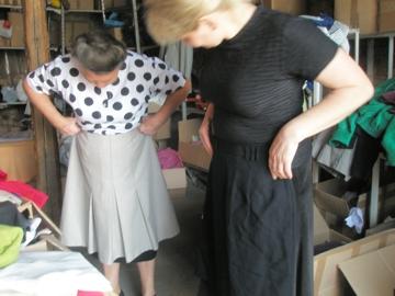 Kleidung aussuchen