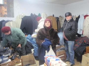 Hilfsgüterverteilung durch Bereginja in Wischgorod