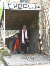 Eingang zu Lager von Bereginja