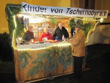 Informationsstand Weihnachtsmarkt Kierspe 2009