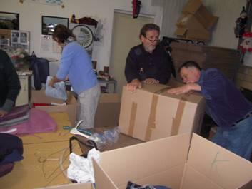Lagerung in Kartons