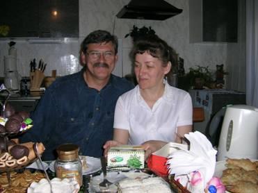 Pastor Vladimir Reschetnik und seine Frau Tanja